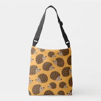 Hedgehogs seamless pattern (ver.4) crossbody bag