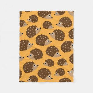 Hedgehogs seamless pattern (ver.4) fleece blanket