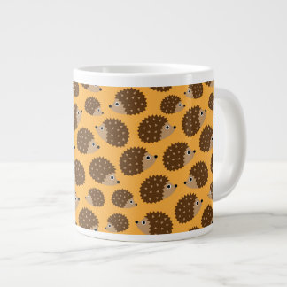 Hedgehogs seamless pattern (ver.4) large coffee mug