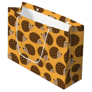 Hedgehogs seamless pattern (ver.4) large gift bag