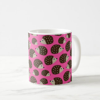 Hedgehogs seamless pattern (ver.5) coffee mug