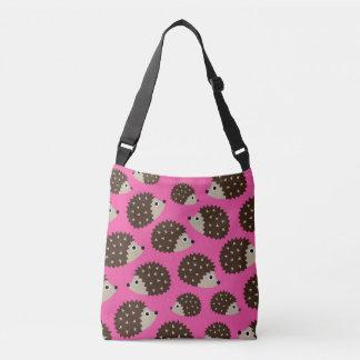 Hedgehogs seamless pattern (ver.5) crossbody bag