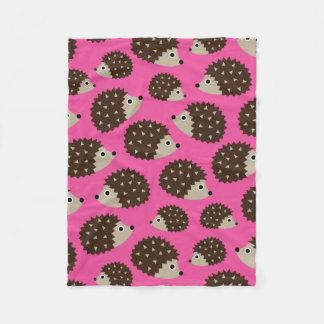 Hedgehogs seamless pattern (ver.5) fleece blanket