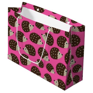 Hedgehogs seamless pattern (ver.5) large gift bag
