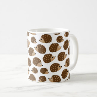 Hedgehogs seamless pattern (ver.6) coffee mug