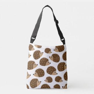 Hedgehogs seamless pattern (ver.6) crossbody bag