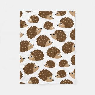 Hedgehogs seamless pattern (ver.6) fleece blanket