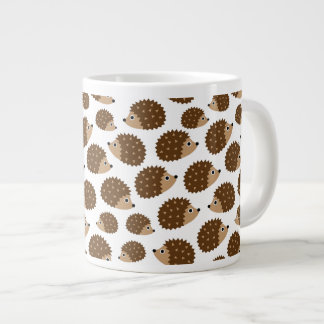 Hedgehogs seamless pattern (ver.6) large coffee mug