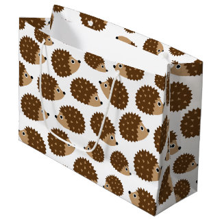 Hedgehogs seamless pattern (ver.6) large gift bag