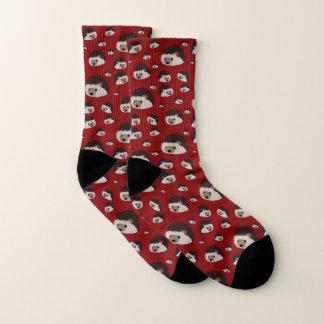 Hedgehogs Socks (Red) 1