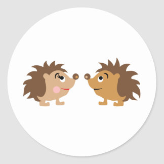 hedgehogsB3 Classic Round Sticker