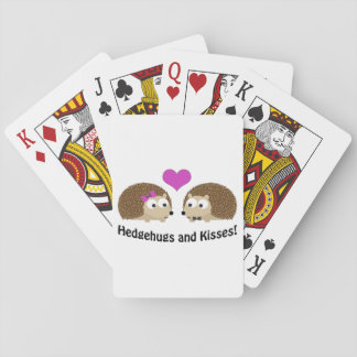 Hedgehugs and Kisses hedgehog love Poker Deck