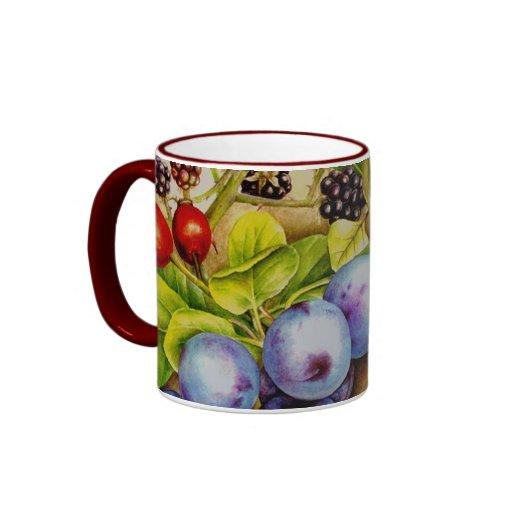 Hedgerow autumn fruit mug