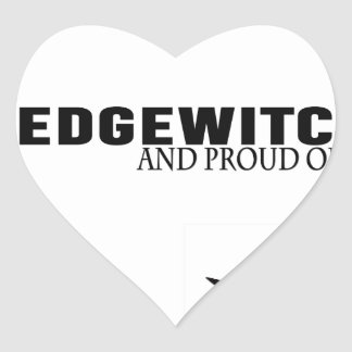 Hedgewitch and Proud of It Heart Sticker