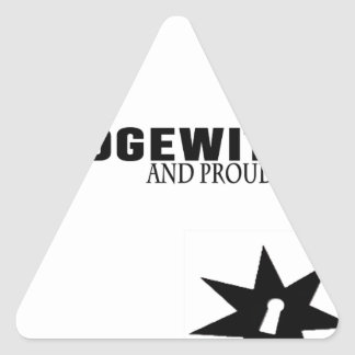 Hedgewitch and Proud of It Triangle Sticker