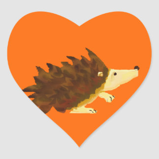 Hedgie Heart Sticker