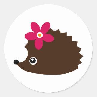 hedgie round sticker