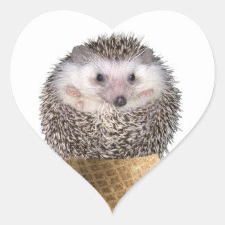 Hedgie Scoop Heart Sticker