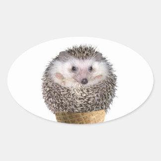 Hedgie Scoop Oval Sticker