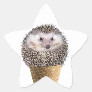 Hedgie Scoop Star Sticker