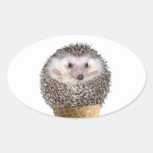 Hedgie Scoop Oval Stickers