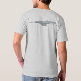 HEDWAY Station v-neck graphic tee, double-sided T-Shirt