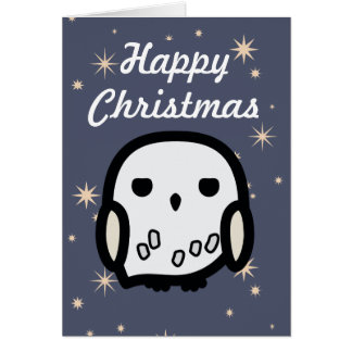 Hedwig Cartoon Character Art Christmas Card