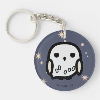Hedwig Cartoon Character Art Double-Sided Round Acrylic Keychain