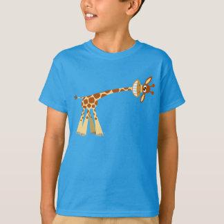 Hee Hee Hee!! Cute Cartoon Giraffe Kids T-shirts