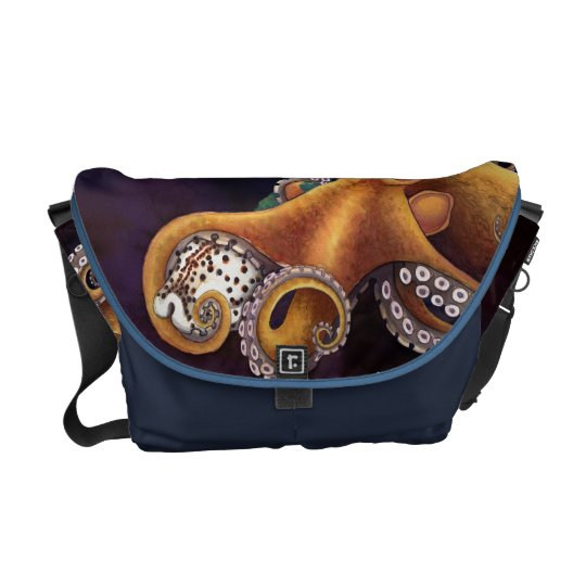 He'e (octopus) with Cowry (Dark) Courier Bag