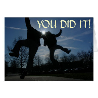 heel click, YOU DID IT! Card