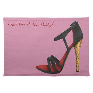 Heeled Evening Sandal Cloth Placemat
