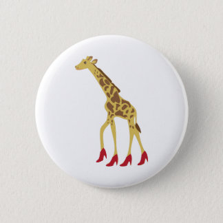 Heeled Giraffe 2 Inch Round Button