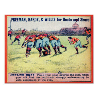 Heeling Out - 1900 Rugby Advertising Print
