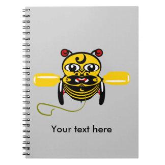 Hei Tiki Bee Toy Kiwiana Spiral Notebook