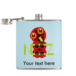 Hei Tiki Maori Design NZ Hip Flask