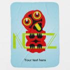 Hei Tiki Maori Design NZ New Zealand Baby Blanket