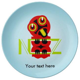 Hei Tiki Maori Design NZ New Zealand Porcelain Plates