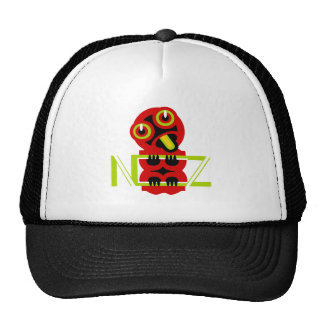 Hei Tiki N.Z. Text art design Trucker Hat