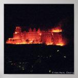 Heidelberg Castle Burning Poster