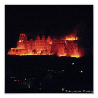 Heidelberg Castle Burning Poster