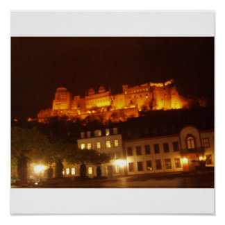 Heidelberg Castle by Night Poster