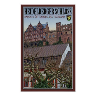 Heidelberg - Castle from Below Poster