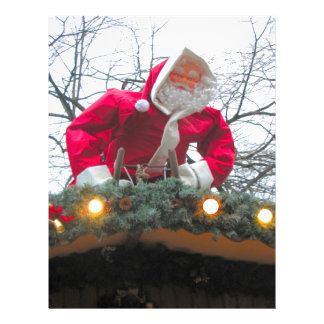 Heidelberg Christmas market, Santa on the roof Letterhead Design