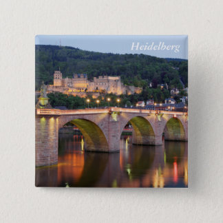 Heidelberg evening 2 inch square button