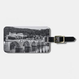 Heidelberg view luggage tag