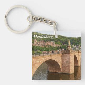 Heidelberg view over the Neckar Single-Sided Square Acrylic Keychain
