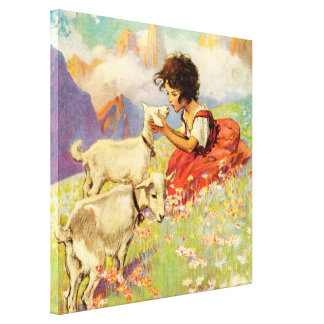 """Heidi and Her Goats"" by Jessie Willcox Smith Canvas Print"