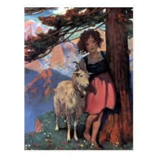 Heidi on a Mountain Top by Jessie Willcox Smith Postcard