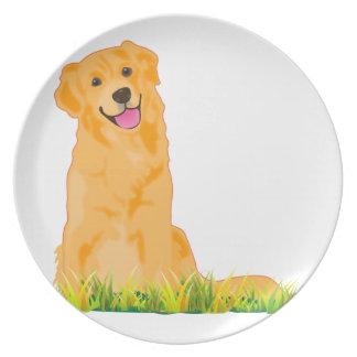 Heidii Randall's Golden Retriever Dug Plate